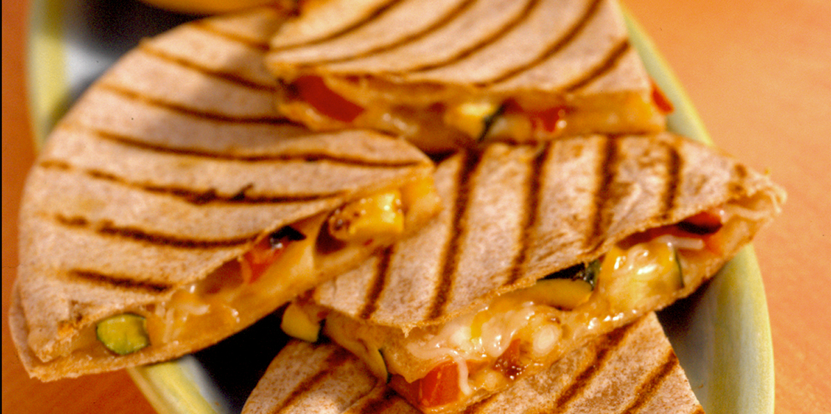 Grilled Vegetable Quesadillas Recipe | Sargento® Shredded 4 Cheese ...