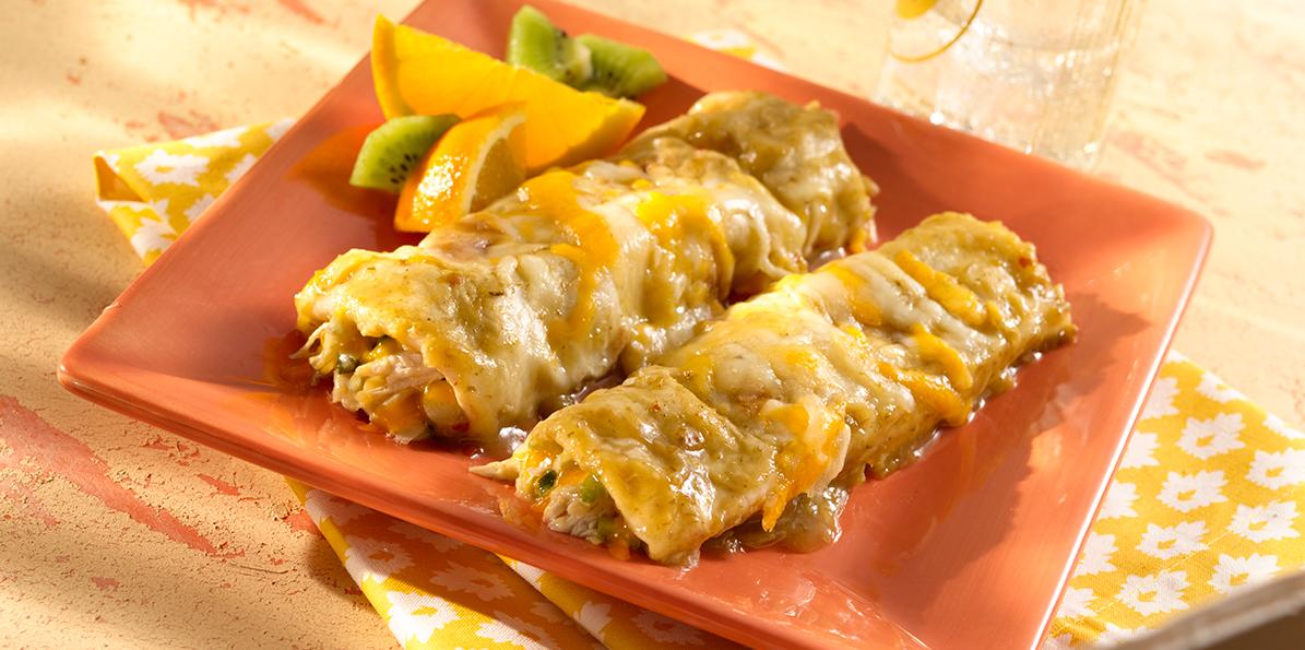 Green Chile Chicken Enchiladas Recipe | Sargento® 4 Cheese Mexican