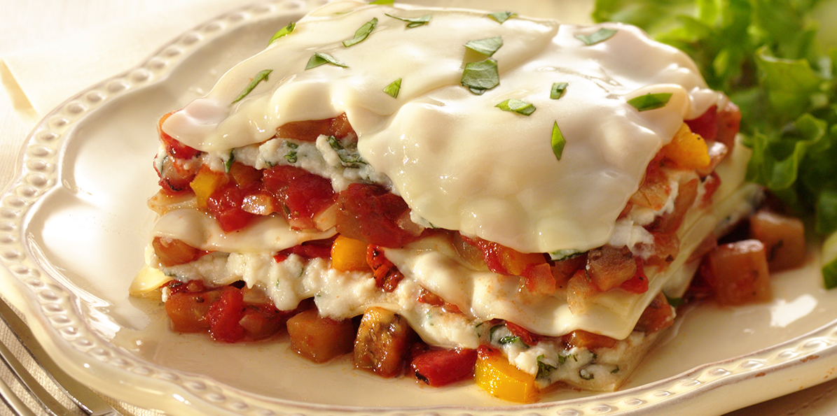 Pepper Stuffed Veggie Lasagna | Sargento Ricotta and Provolone