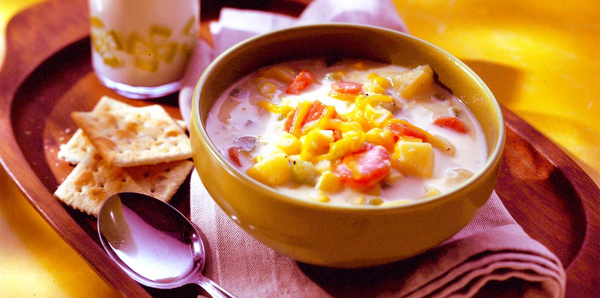 Corn Chowder With Cheddar Recipe — Dishmaps