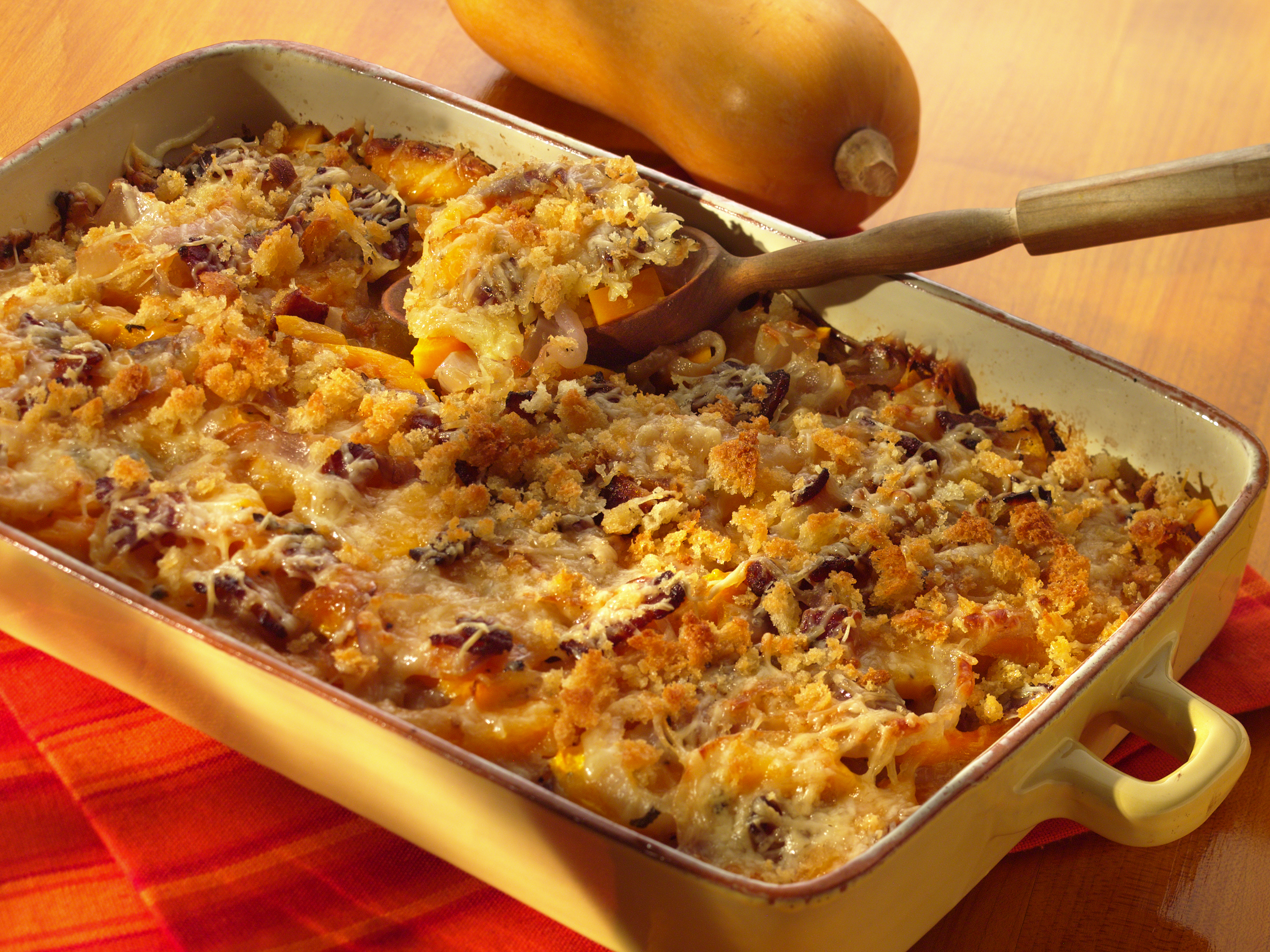 Butternut Squash Gratin Appetizer Recipe | Sargento® Shredded Swiss