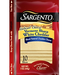 Sargento® Sliced Vermont Sharp White Cheddar Cheese