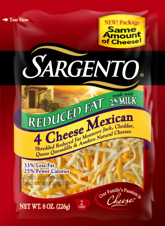Sargento® Shredded Reduced Fat 4 Cheese Mexican