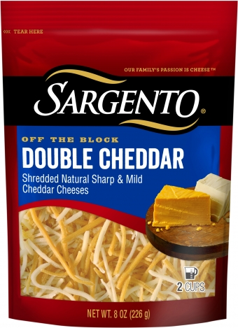 Sargento® Shredded Double Cheddar Cheese