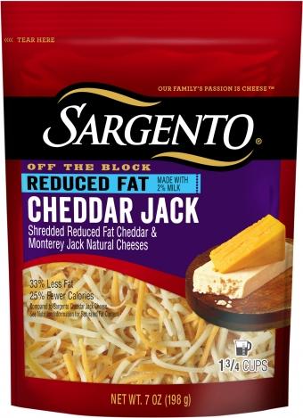 Sargento® Shredded Reduced Fat Cheddar Jack Cheese