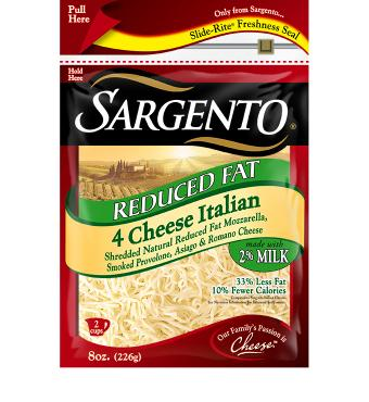 Sargento® Shredded Reduced Fat 4 Cheese Italian