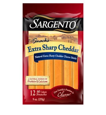 Sargento® Natural Extra Sharp Cheddar Cheese Sticks