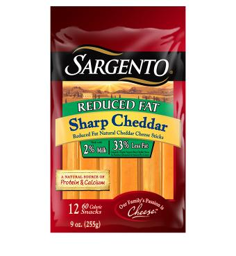 Sargento® Reduced Fat Natural Sharp Cheddar Cheese Snacks