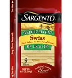 Sargento® Sliced Reduced Fat Swiss Cheese