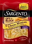 Sargento® Fine Cut Shredded 4 Cheese Mexican