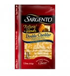 Sargento® Natural Blends® Sliced Double Cheddar Cheese