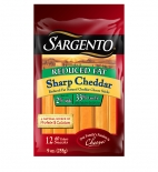Sargento® Reduced Fat Natural Sharp Cheddar Cheese Sticks