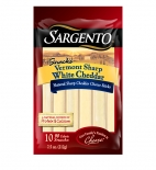 Sargento® Natural Vermont Sharp White Cheddar Cheese Sticks