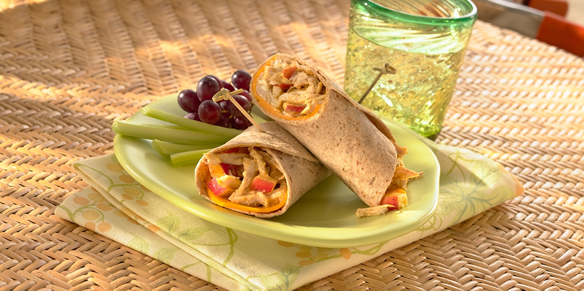 Curried Chicken & Cheddar Wraps