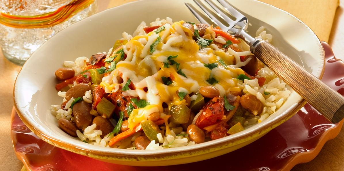 Tex-Mex Pinto Beans & Brown Rice