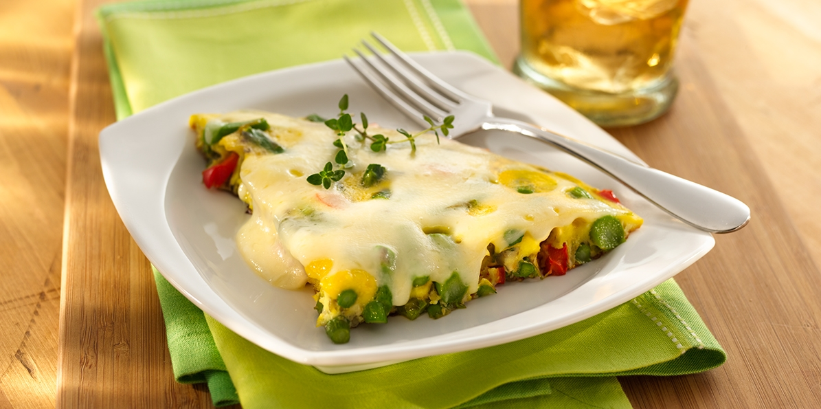 Swiss Veggie Frittata Wraps