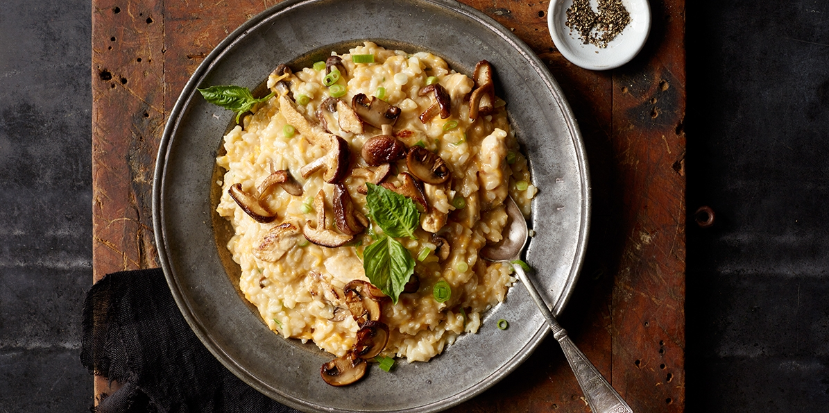Cheesy Chicken Risotto