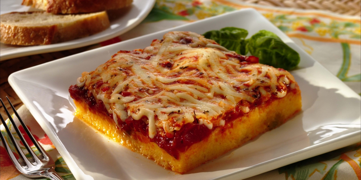 Polenta with Tomato Sauce | Sargento® Shredded Mozzarella Cheese