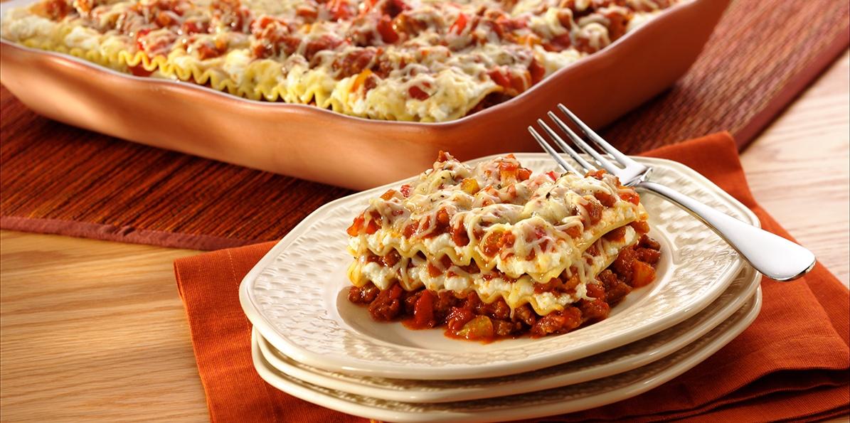Sausage & Pepper Lasagna