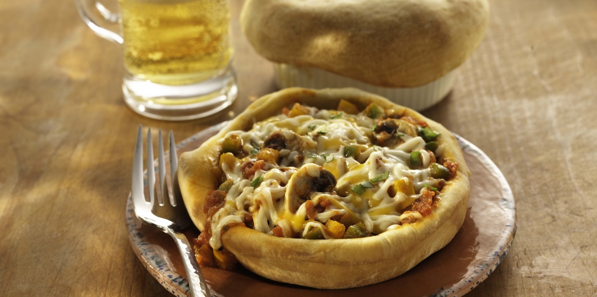 Cheese & Vegetable Pizza Pot Pies