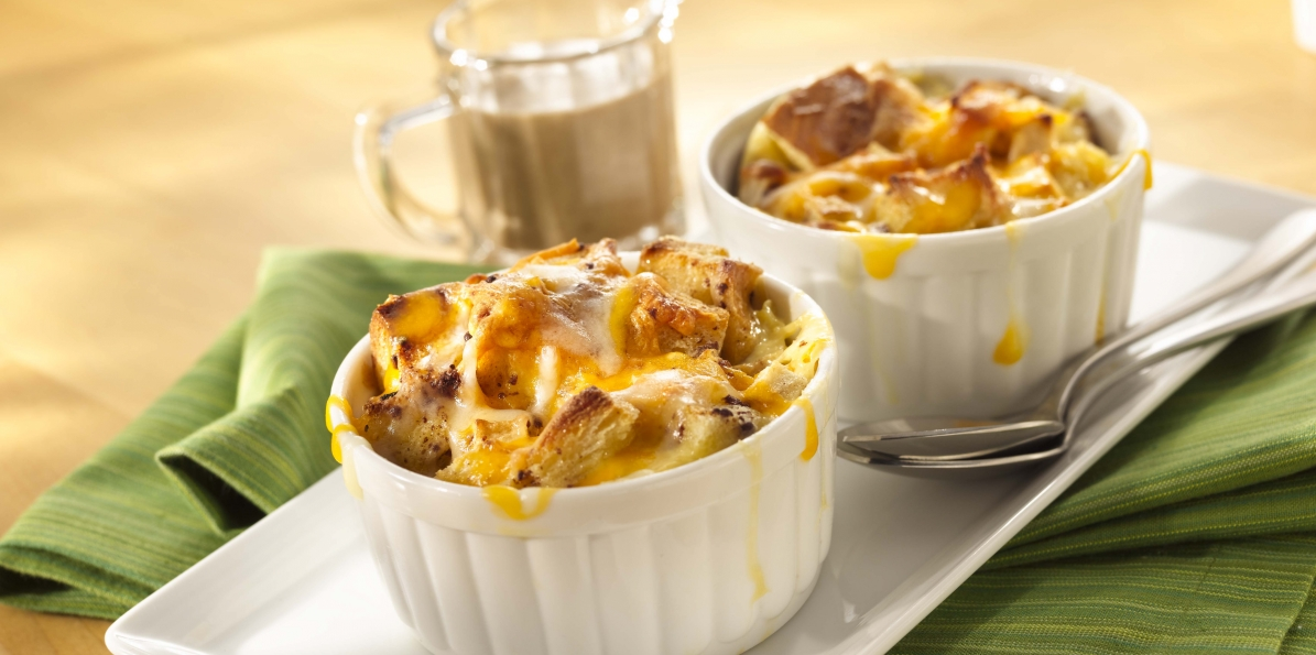 Cheddar Apple Bread Pudding