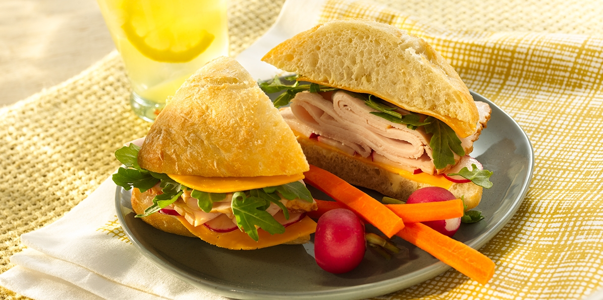 Turkey and Veggie Sandwich Recipe | Sargento® Colby Cheese