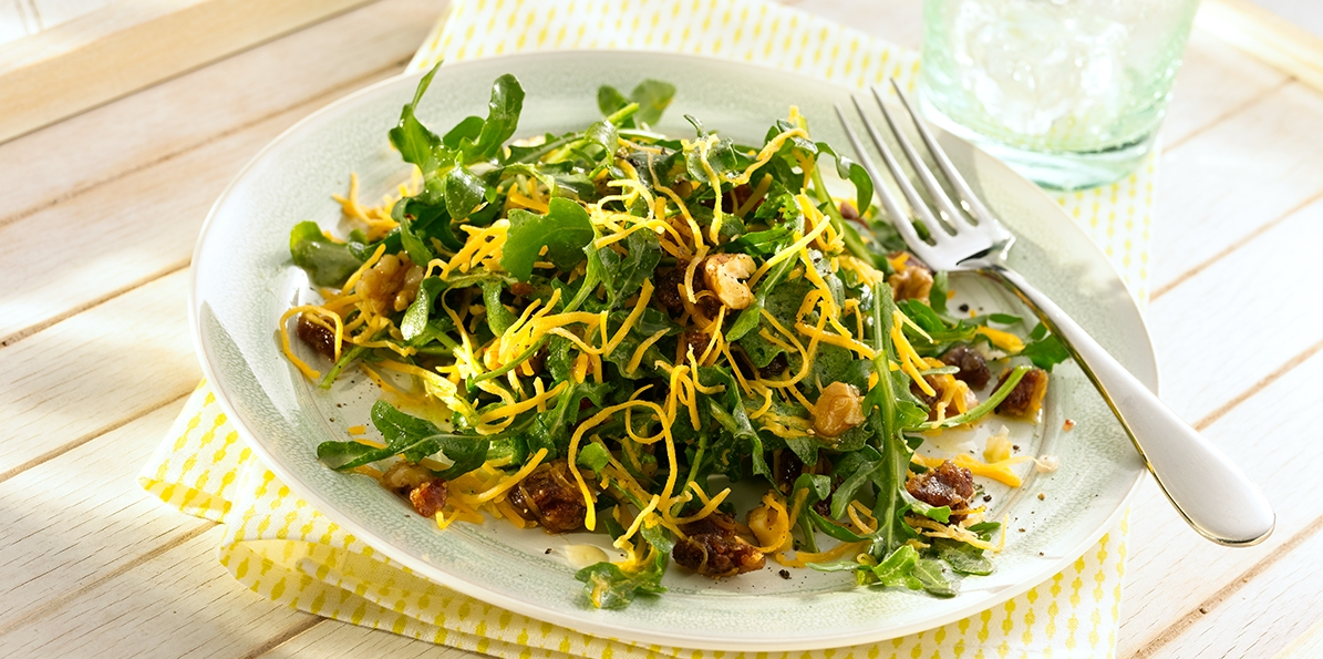 Arugula with Dates & Walnuts