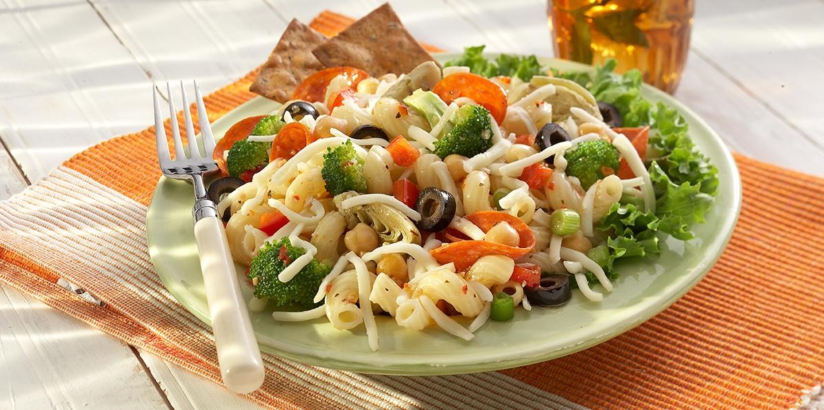 Italian Pasta Salad | Sargento® Shredded Mozzarella Cheese
