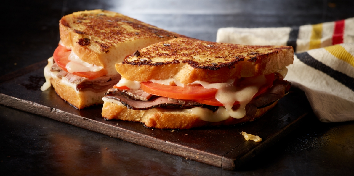Swiss & Beef Grilled Cheese