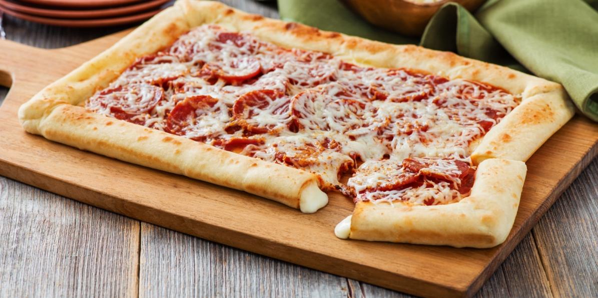 Stuffed Crust Pepperoni Pizza