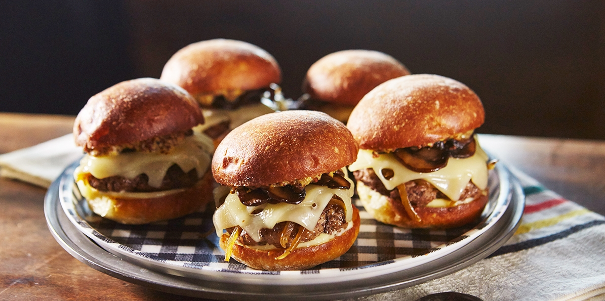 Swiss and Bacon Sliders