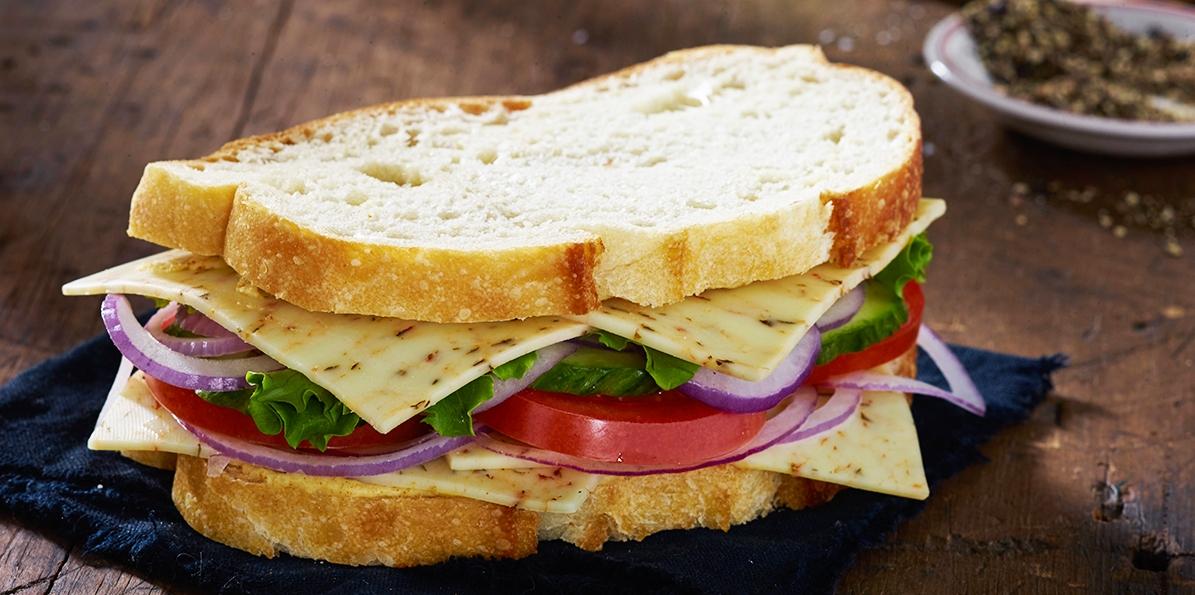 Tomato & Basil Jack Veggie Sandwich