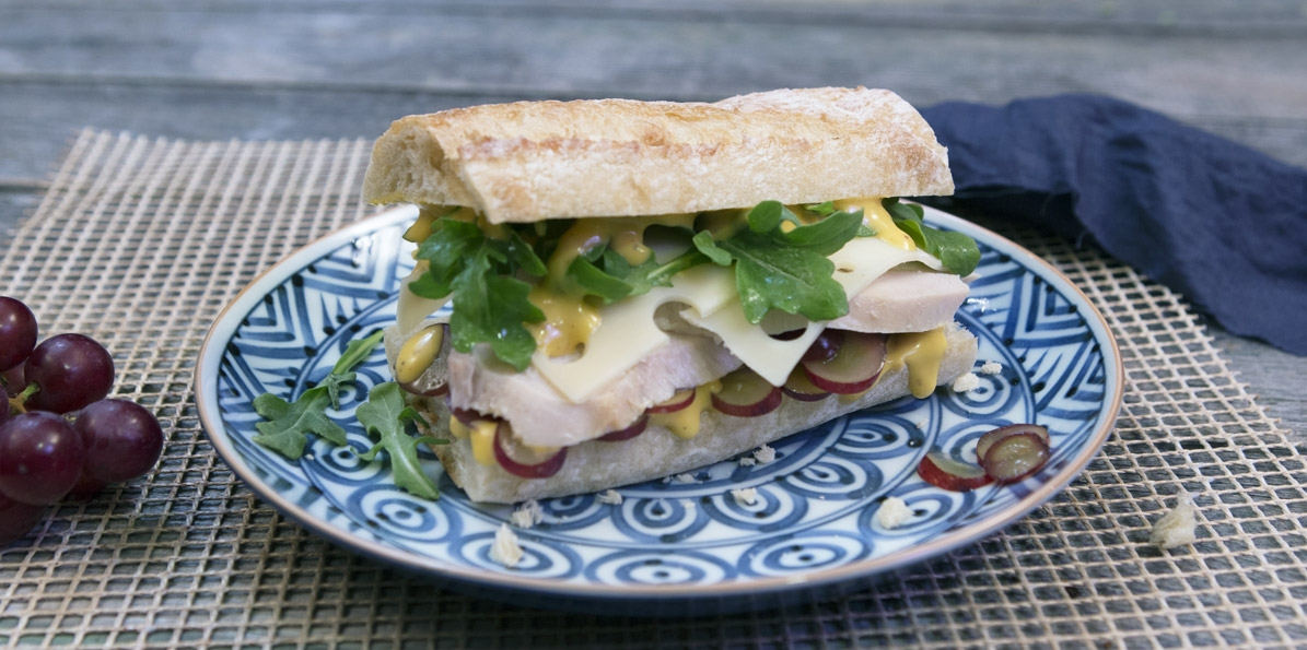 Turkey, Grape & Arugula Sandwich