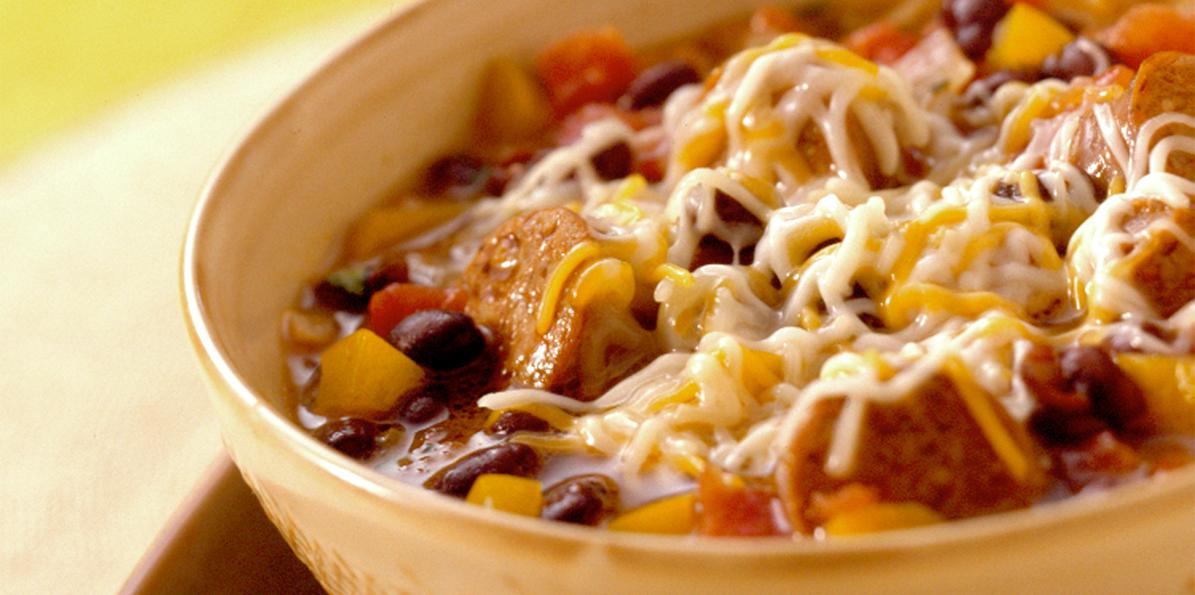 Sausage Black Bean Stew | Sargento® 4 Cheese Mexican