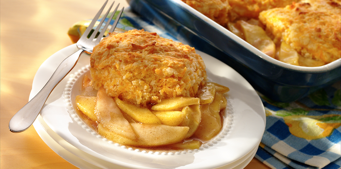 Pear Apple Cobbler Recipe | Sargento® Sharp Cheddar Cheese