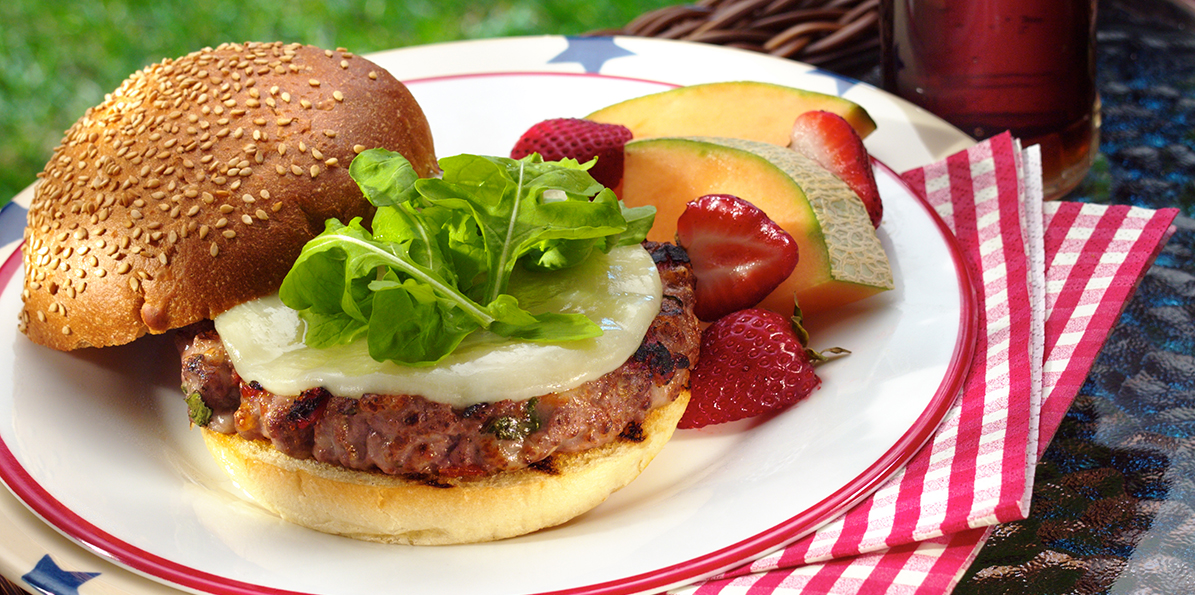 Sun-dried Tomato Burger | Sargento Sharp Provolone