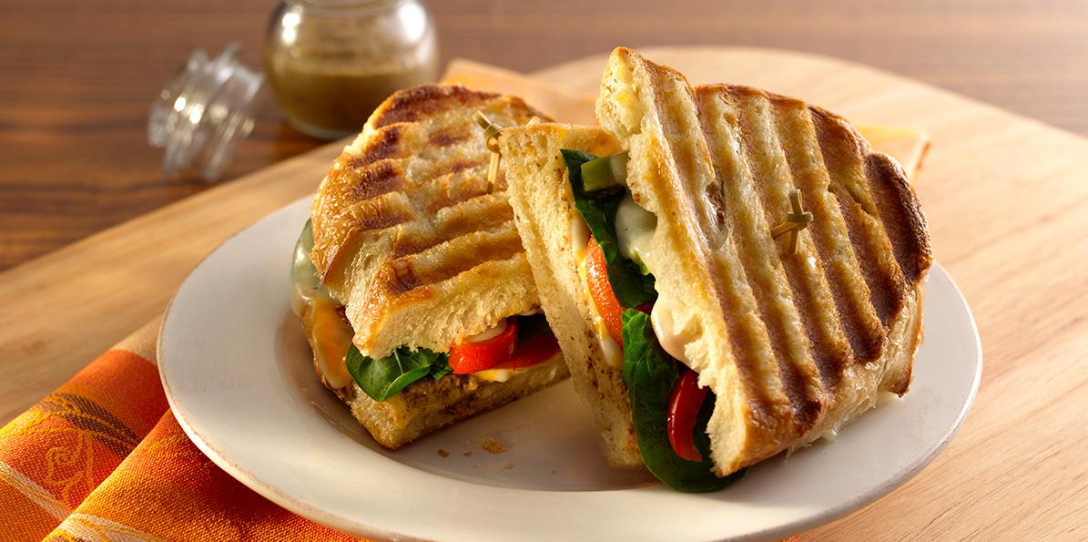 Vegetarian Grilled Panini Recipe Sargento 174 Mozzarella