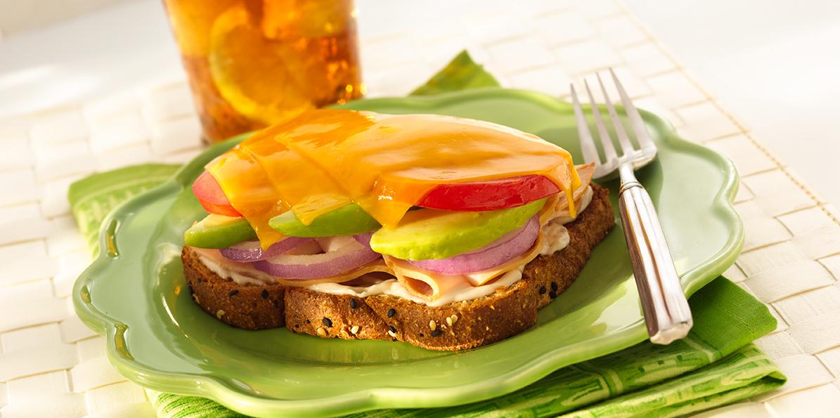 Turkey Avocado Sandwich Melt Recipe   Sargento® Cheddar