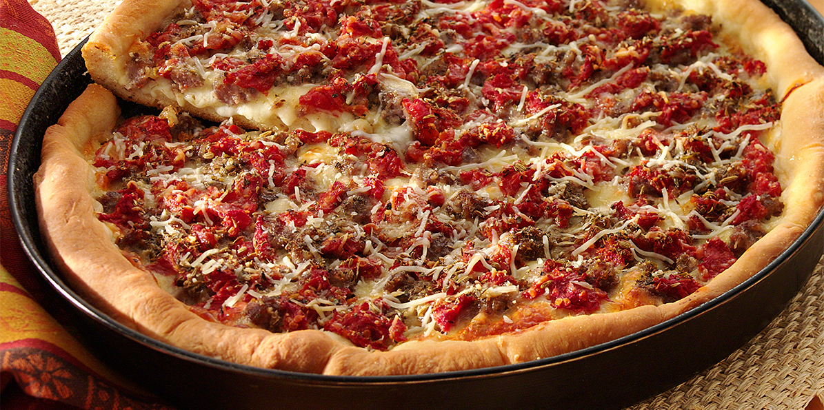 Deep Dish Sausage Pizza Recipe Sargento 174 Shredded