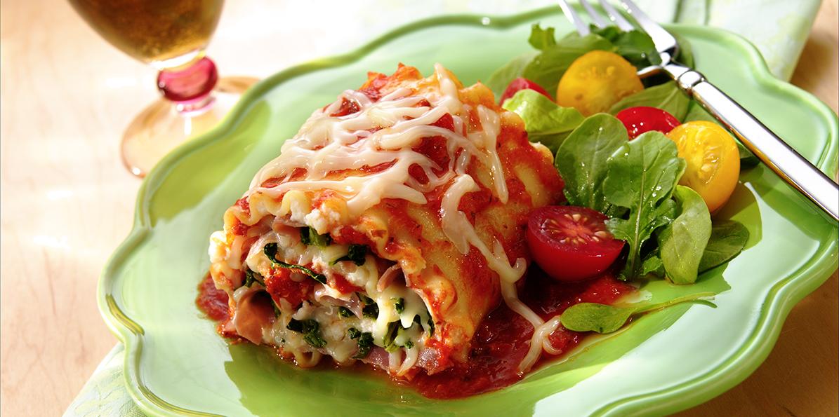 Lasagna Roll-Ups Recipe | Sargento® Shredded Mozzarella Cheese