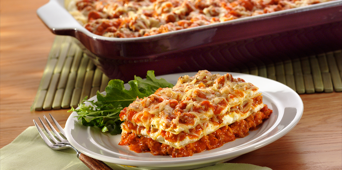 Classic Bolognese Lasagna Sargento 174 Shredded 6 Cheese