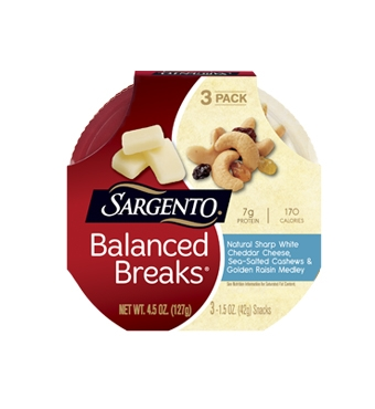 Balanced Breaks® Natural Sharp White Cheddar Cheese with Cashews and Raisins