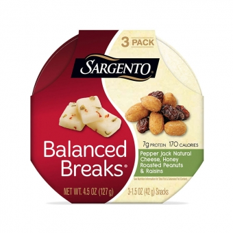 Balanced Breaks® Pepper Jack Natural Cheese with Honey Roasted Peanuts and Raisins