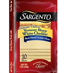 Sargento® Sliced Vermont Sharp White Cheddar Cheese