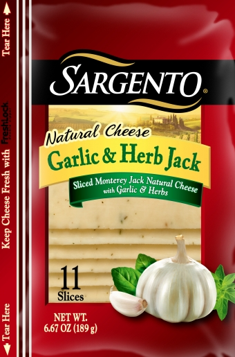 Sargento® Sliced Garlic & Herb Jack Cheese
