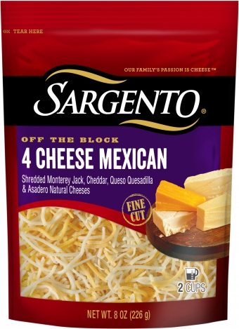 Sargento® Shredded 4 Cheese Mexican - Fine Cut