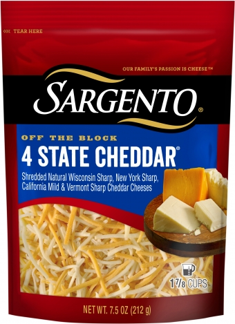Sargento® Shredded 4 State Cheddar® Cheese