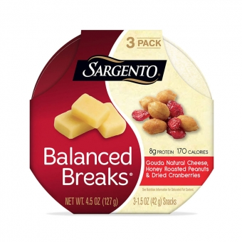 Balanced Breaks® Gouda Natural Cheese with Honey Roasted Peanuts and Dried Cranberries