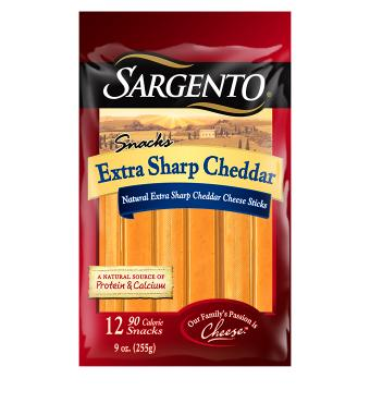Sargento® Natural Extra Sharp Cheddar Cheese Sticks