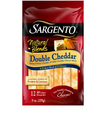 Sargento® Natural Blends® Double Cheddar Cheese Sticks